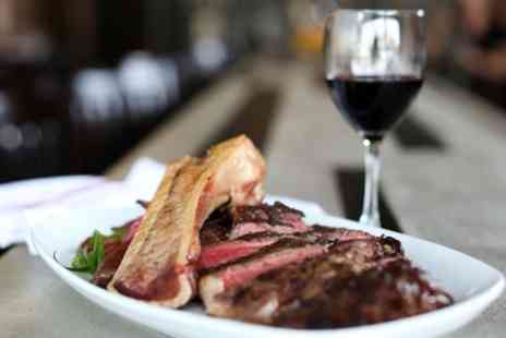 The Three Horseshoes - 8oz Rump Steak and a Glass of Wine for Two or Four - Save 42%