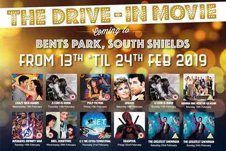 The Drive In Movie - Drive in cinema ticket for one car with up to seven passengers - Save 48%