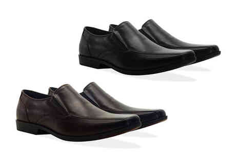 Redfoot - Pair of mens leather twin gusset shoes choose from two colours - Save 79%