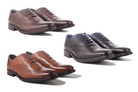 Redfoot - Pair of mens leather brogues choose from three colours - Save 79%