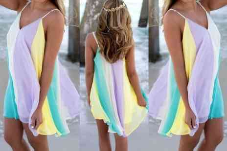 Snap One Up - Rainbow cami dress - Save 74%