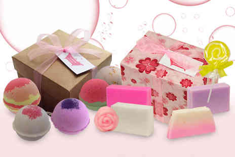Bathtime Boutique - Assorted handmade soap gift set or bath bomb gift set - Save 59%
