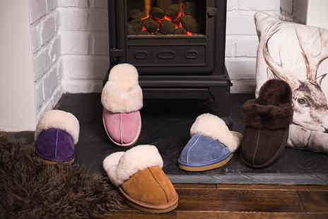 Redfoot - Pair of sheepskin mule slippers choose from five colours - Save 75%