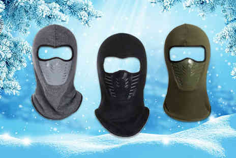 Snap One Up - Full face balaclava mask Choose from eight colours - Save 79%