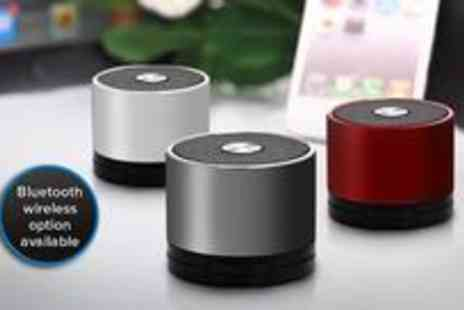 Clearly Contemporary - Trendy Stereo Jack Mini Speaker - Save 68%