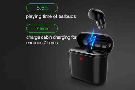 Good2items - In Ear Wireless Headphones With Charge Box Choose Two Colours - Save 81%