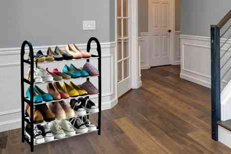 Black Feather - Three tier Keplin shoe organiser, Five tier organiser - Save 80%