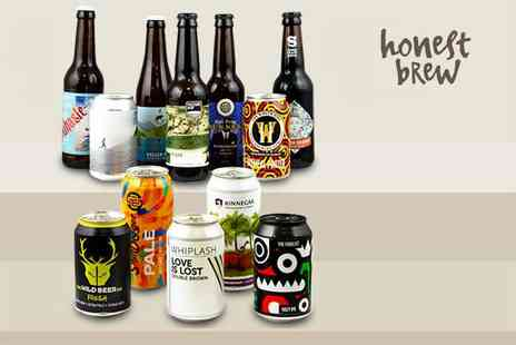 Honest Brew - 12 beer hamper with a £10 voucher to spend and an introductory magazine - Save 51%