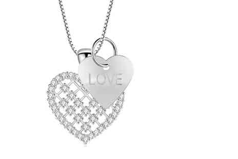 Gemnations - Crystal heart love pendant - Save 87%