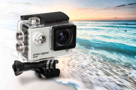 Trojan Electronics 2018 - Escape 4K UHD action camera with built in WiFi - Save 56%