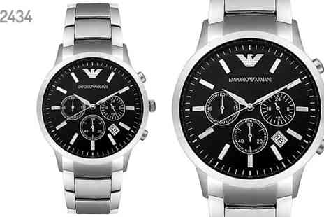 AW Watches - Emporio Armani Mens Watches Choose from 2 Designs - Save 70%
