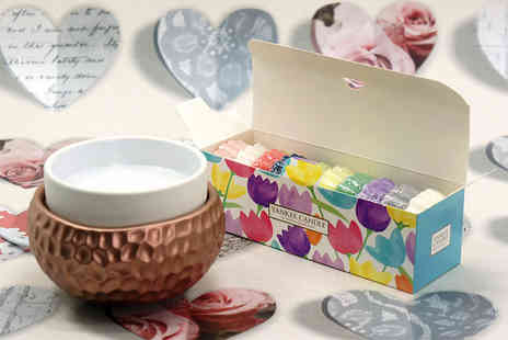 Yankee Bundles - Yankee Candle electric wax melt warmer and floral gift box with 10 assorted melt tarts - Save 50%