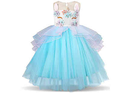 Buy Something - Childrens Unicorn Party Dress Choose from 3 Colours and 6 Sizes - Save 78%