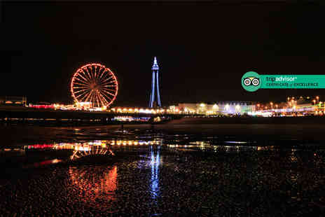The Carousel - Overnight Blackpool stay with two course dinner, bottle of prosecco, breakfast late check out and early check in - Save 57%