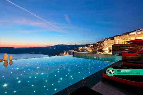 Super Escapes Travel - Five Star Three nights Mykonos getaway with sea view room, breakfast and return flights - Save 20%