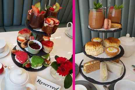 J Hotel - Themed afternoon tea for two people with unlimited hot drinks choose from Valentines Day, Mothers Day and Traditional themes - Save 63%
