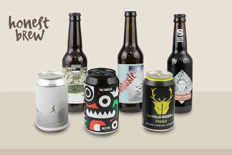 Honest Brew - Six beer hamper with a £10 voucher to spend and an introductory magazine - Save 55%