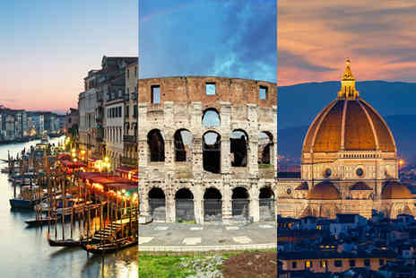 Weekender Breaks - Six nights Rome, Florence and Venice holiday with train transfers and return flights - Save 37%