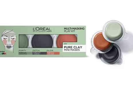 Raion - LOreal Three Piece Multi Masking Face Mask Play Kit With Free Delivery - Save 26%