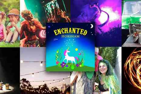 Enchanted Horsham - Early Bird Tickets Enchanted Family Festival Music, Performers, Illuminated Gardens, Family Fun - Save 50%