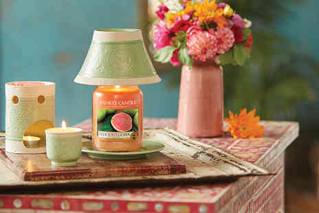 Yankee Bundles - Yankee Candle vintage shade, tray and delicious guava gift set - Save 55%