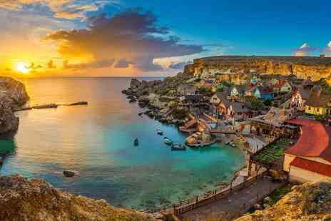 Weekender Breaks - Three nights Malta spa stay with a hydrotherapy session, spa access, wine and fruit basket on arrival, return transfers and flights - Save 74%