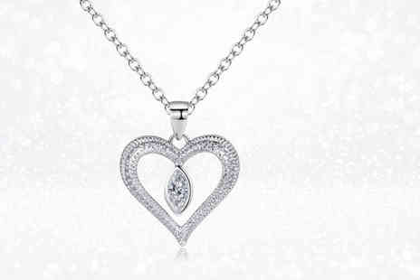 Gemnations - Love drop necklace made with Crystals from Swarovski - Save 87%