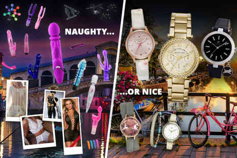 Multi Merchant Mystery Box Deals - Adult naughty or nice Valentines mystery deal MK6056 Watch, trips to Amsterdam or Venice and more - Save 0%