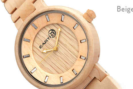 Ideal Deal - Eco Friendly Earth Branch Wood Watch Choose from 4 Colours - Save 72%
