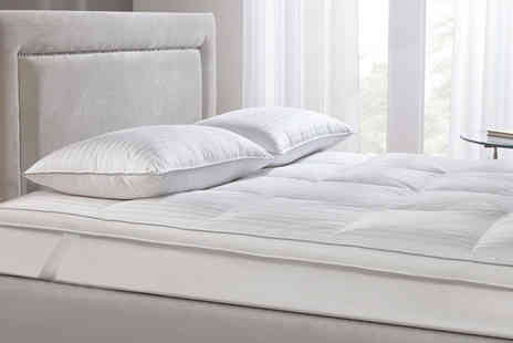 Cascade Home - Double goose feather and down mattress topper - Save 66%