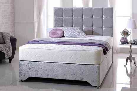Komfet - Qquilted open coil mattress choose from five sizes - Save 78%