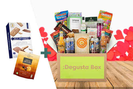 DegustaBox - Pay monthly Degusta Box subscription with two free gifts and automatic renewal Plus Delivery is Included - Save 38%
