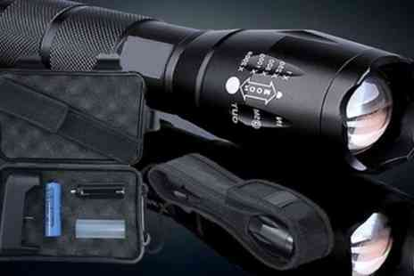 Groupon Goods Global GmbH - Apachie Military Torch with Optional Accessories Box - Save 83%
