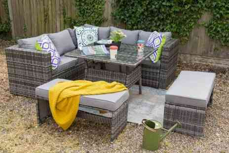 Dreams Outdoors - Nine seater rattan garden furniture set choose from two colours - Save 55%