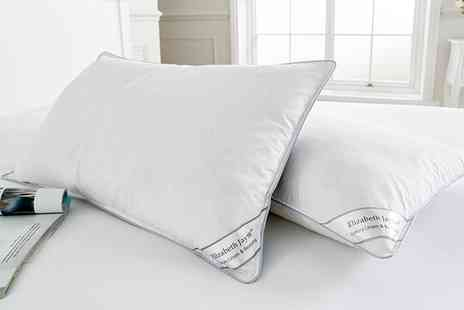 Groupon Goods Global GmbH - Two, Four or Eight Duck Feather Pillows - Save 78%