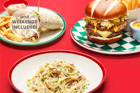 Frankie and Bennys - Two course A la carte dining - Save 62%