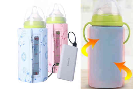 Yello Goods - Usb baby bottle warmer choose from two colours - Save 80%