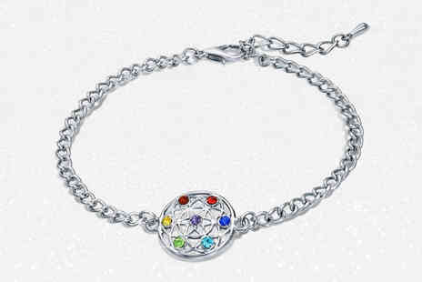 Lily Spencer London - Chakra crystal bracelet from Lily Spencer London - Save 86%