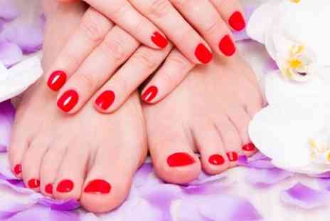 Vivacious Hair And Beauty - Gel Manicure or Gel Pedicure or Both - Save 53%