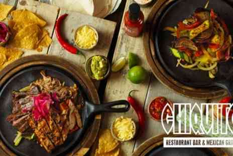 Chiquito - Two Course Dinner with Optional Classic Cocktail for Two - Save 54%