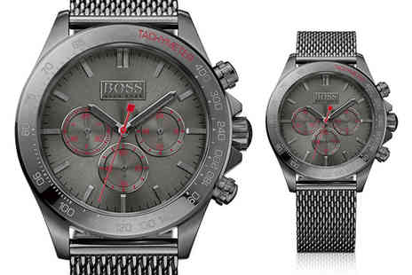 Best Watch Company - Hugo Boss HB1513443 gunmetal chronograph watch - Save 53%