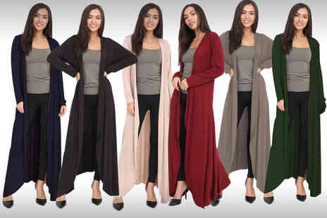 Verso Fashion - Flared maxi cardigan choose from six colours - Save 50%