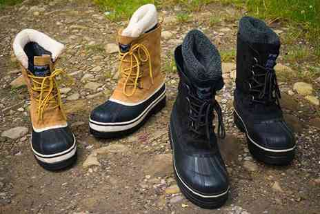 Redfoot - Pair of unisex leather water resistant snow boots - Save 83%