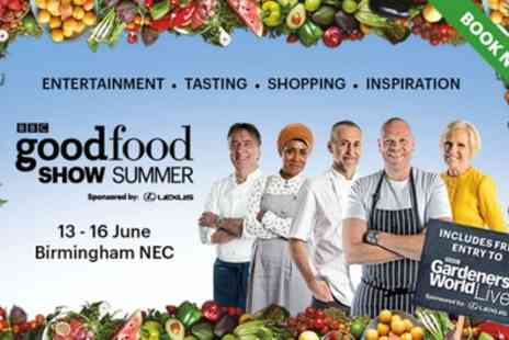 BBC Good Food Show - One, two, three or four afternoon tickets to BBC Good Food Show on 13 To 16 June - Save 0%