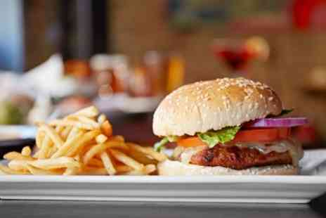 King and Queen Pub and Restaurant - Burger with Fries and Beer or Soft Drink for Two or Four - Save 40%