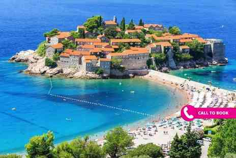 Book It Now Holidays - Seven nights all inclusive luxury Montenegro holiday with return flights - Save 39%