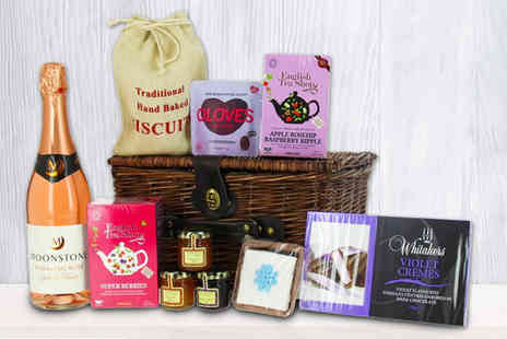First4Hampers - Mothers Day hamper including Moonstone Rose, a selection of teas, assorted jams - Save 52%