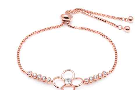Lily Spencer London - Clover charm crystal bracelet choose form three colours - Save 86%