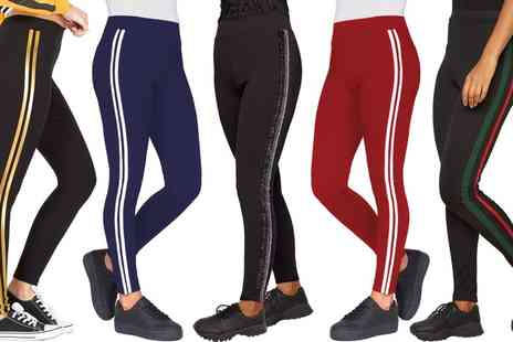 Groupon Goods Global GmbH - Womens Side Stripe Leggings with Contrast Detail - Save 0%