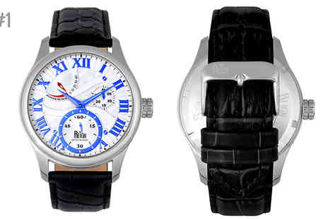 Ideal Deal - Reign Bhutan Leather Strap Watch Choose Six Designs - Save 91%